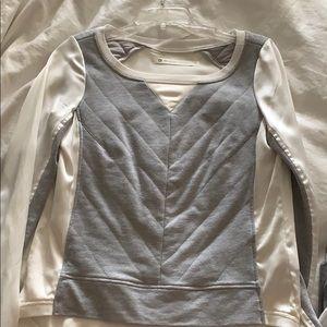 Blank Noir xs jersey silk top